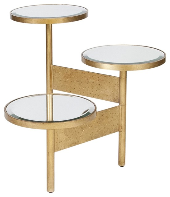 Worlds Away Colin Gold Leafed Side Table traditional-side-tables-and-end-tables