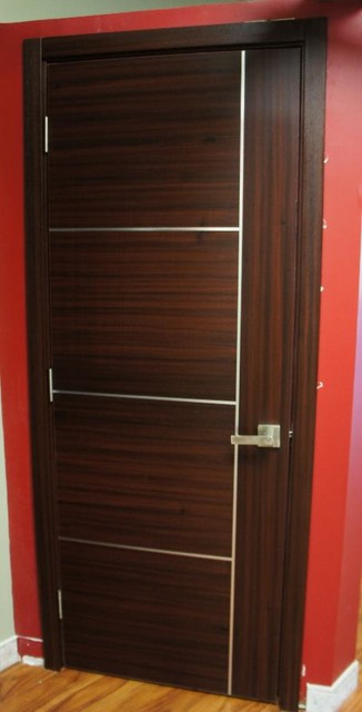 Capri Mahogany Finish Modern Interior Door Modern And