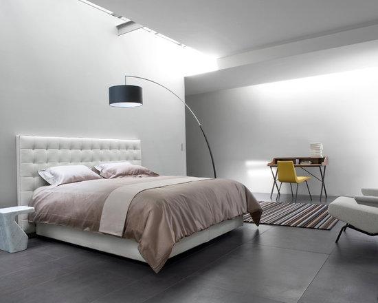 Nador - Ligne Roset - Nodor bed, Dimensions floor lamp, Archi armchair, Stump side table.