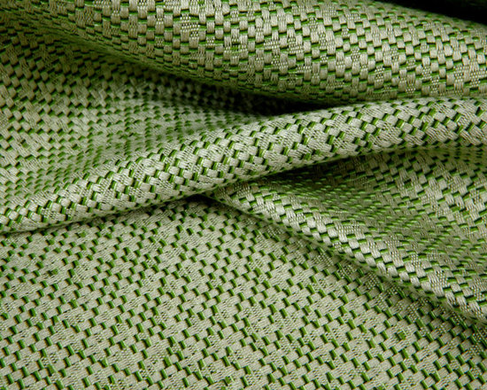 Native Rattan Indoor-Outdoor Upholstery in Green - Native Rattan Indoor-Outdoor Upholstery in Green. This American made indoor/outdoor fabric has a great texture and soft hand.