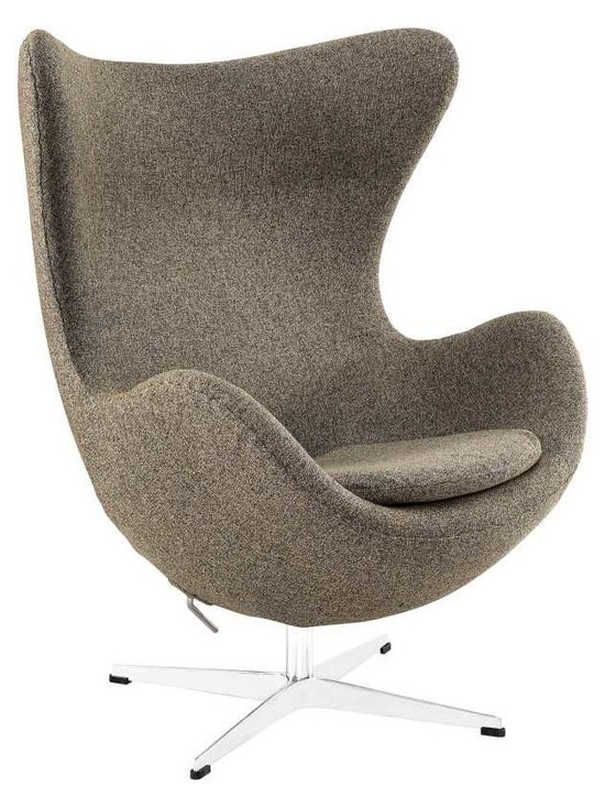 Modway - Glove Wool Lounge Chair in Oatmeal - The Glove Chair provides evidence of movement in design to adapt more organic forms into our living spaces. Designed to remind us of the natural world, this chair provides sheer comfort and relaxation. Get back to nature with the Glove Chair.