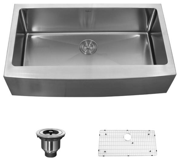 Kraus 36 inch Farmhouse Single Bowl 16 gauge Stainless Steel Kitchen Sink modern-kitchen-sinks