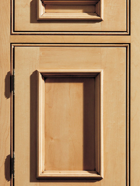 """Dura Supreme Cabinetry - Dura Supreme Cabinetry Vintage Panel Inset Cabinet Door Style - Dura Supreme Cabinetry """"Vintage Panel"""" inset cabinet door style in Maple shown with Dura Supreme's """"Wheat"""" with """"Coffee"""" Glaze finish. (With beaded frame)"""