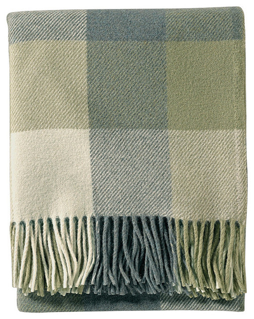 Eco-Wise Washable Wool Throw traditional-throws