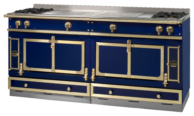 La cornue de france 39 s chateau 150 in azulejo blue for Prix cuisiniere la cornue