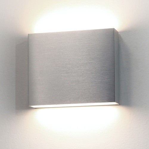 Astro modern led up and down aluminium exterior wall light for Exterior up and down lights led