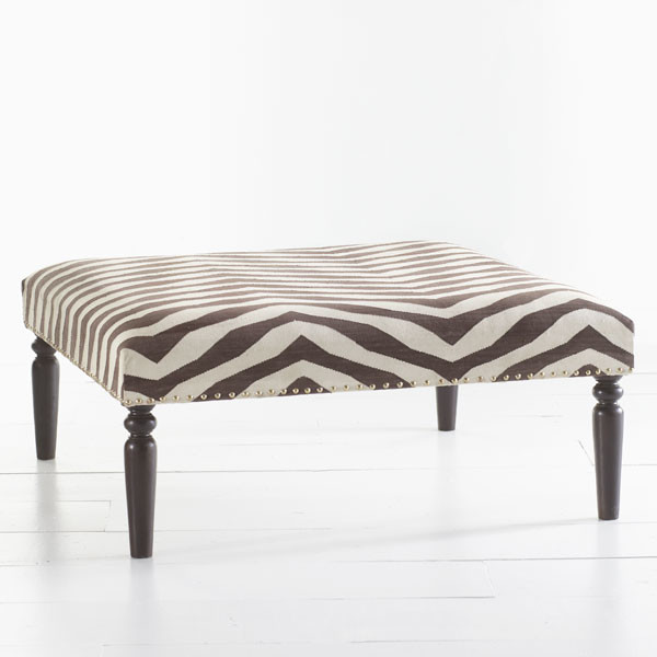 kilim ottoman zebra modern footstools and ottomans
