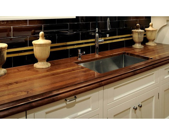 Walnut Kitchen Countertop with Undermount Sink. Designed by Vincent Cappello - Walnut Kitchen Countertop with Undermount Sink. Designed by Vincent Cappello, Putnam Kitchens.