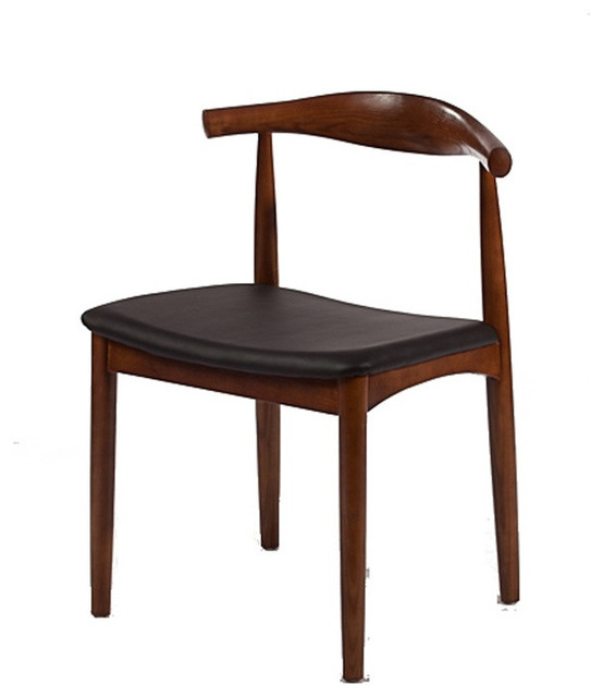 Solid Wood Mid Century Style Accent Dining Chair Walnut Contemporary Dini