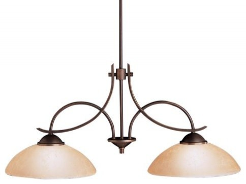 Kichler Olympia Island Light - 38W in. Olde Bronze, ENERGY STAR contemporary-ceiling-lighting