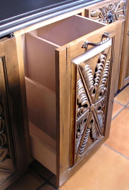 Antigua Carved Cabinets & Interiors mediterranean
