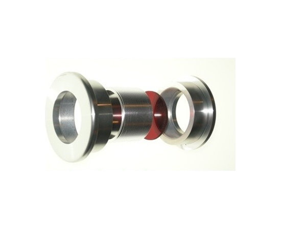 Doorlenz - The Doorlenz (door window) is made of four peices: two outer flanges, a threaded insert and lens.  The flanges and threaded insert are made of anodized aluminum.  The lenses are made of tinted acrylic or glass.  No additional hardware is required for installation.