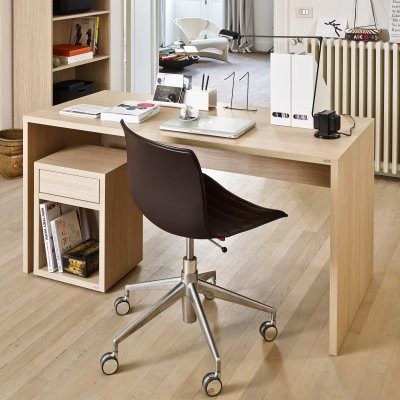 click furniture large desk essential oak light modern desks