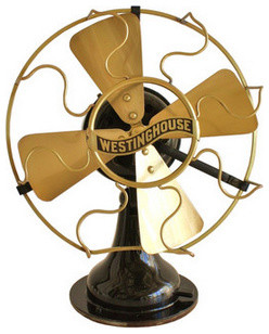 1910 Westinghouse Electric Brass Fan traditional-desk-accessories