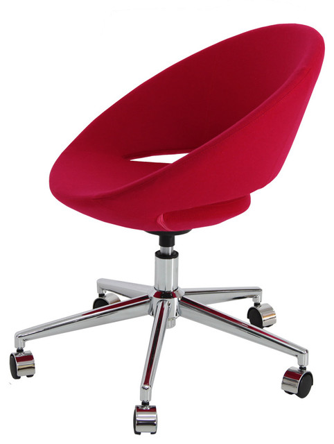crescent office chair ankara wool red contemporary