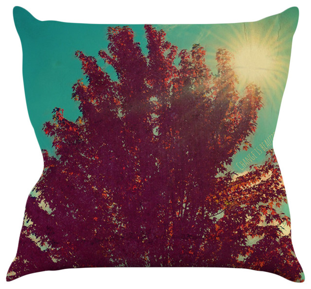 Teal And Red Decorative Pillows : Robin Dickinson