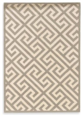 Linon Greek Key Rug in Grey/White contemporary-rugs