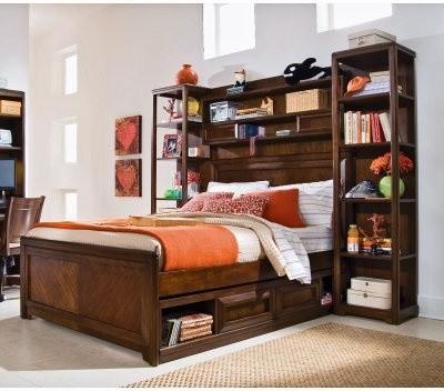 Elite Expressions Bookcase Storage Bed modern-beds