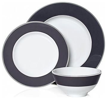 Delfina Dinnerware, Charcoal modern-dinnerware