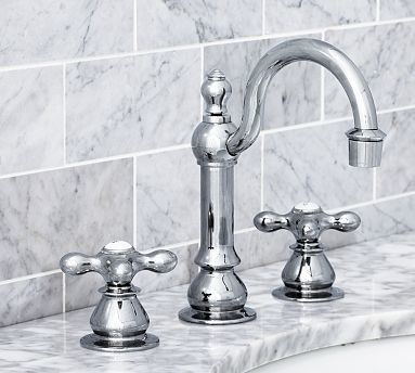 Gooseneck Faucet Bathroom : Gooseneck Faucet, Antique Pewter finish traditional-bathroom-faucets ...