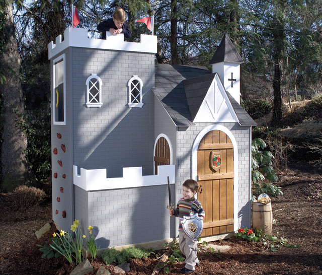 Sassafras Castle Playhouse traditional-outdoor-playhouses