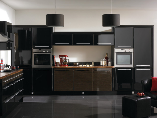 high gloss black cappuccino kitchens modern