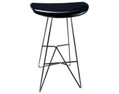 K:4 Leather Swivel Stool by KOI modern-bar-stools-and-counter-stools