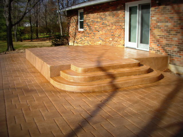 decorative concrete patios traditional patio