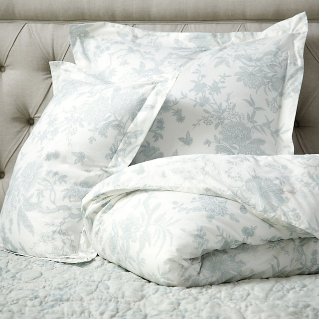 Jardin Toile Duvet Cover Spa King Traditional Bedding By Ballard Designs