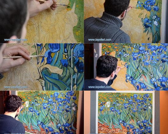TOPofART - Irises | Vincent van Gogh | Painting Reproduction  | TOPofART.com - Vincent van Gogh - Irises, 1889 - Hand-Painted Oil Painting Reproduction.