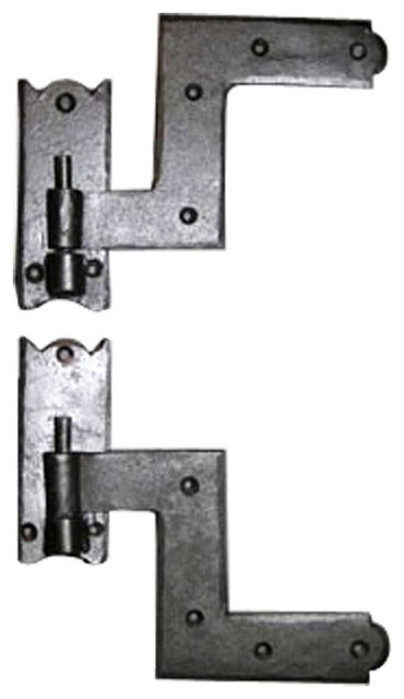 Shutter Hinges Wrought Iron Shutter Hinge 6'' H x 6 1/2'' W transitional-window-treatment-accessories