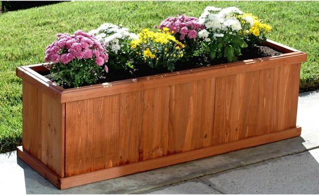 Blue marble designs rectangle rosewood cedar planter box for Cedar garden box designs