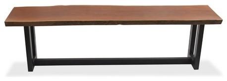 Live Edge Brazilian Sucupira Solid Wood Contemporary Console contemporary-console-tables