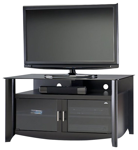 Bush Myspace Aero TV Stand in Classic Black Finish - Transitional - Entertainment Centers And Tv ...