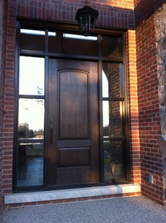 Cherry Grain Doors - Traditional - Front Doors - toronto - by Fibercraft Door Company