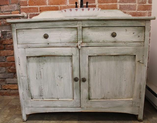 Rustic White Bathroom Vanity Vanities