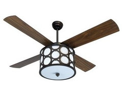 Craftmade Lauren Meridian 56 4 Blade Ceiling Fan with Continuous Circle Pattern