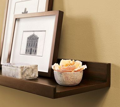 Pottery Barn Holman Shelf eclectic wall shelves
