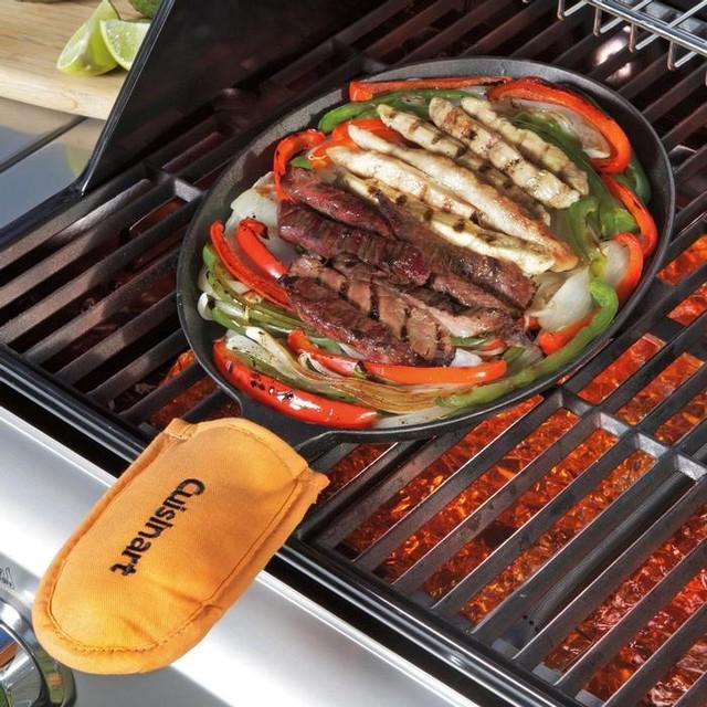 Cuisinart Cast Iron Fajita Pan Set contemporary-frying-pans-and-skillets
