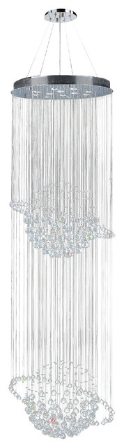Worldwide Lighting W83206C28 Saturn 12-Light Clear Crystal Chandelier traditional-chandeliers
