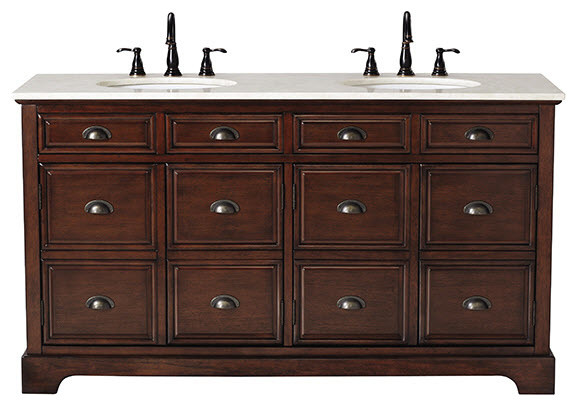 Apothecary double vanity traditional bathroom vanities and sink consoles by home for Apothecary style bathroom vanity