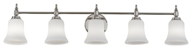"Darcy Etched Glass 39 1/2"" Wide Nickel Bathroom Light traditional-bathroom-lighting-and-vanity-lighting"