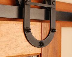 Horseshoe Barn Door Hardware Kit farmhouse-interior-doors