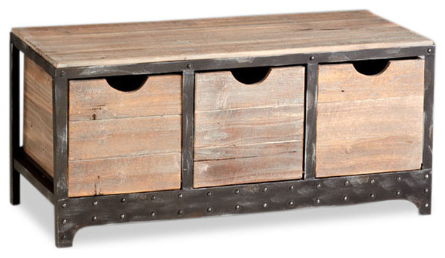 ... Industrial Iron Wood Storage Cabinet transitional-storage-cabinets