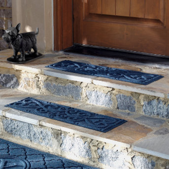 Set of Four Scroll Stair Treads traditional-stair-tread-rugs