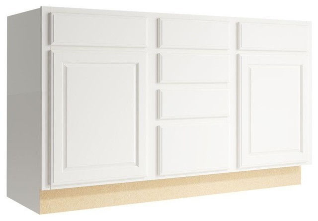 Cardell Cabinets Salvo 60 in. W x 34 in. H Vanity Cabinet Only in Lace - Contemporary - Medicine ...