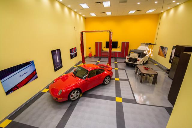 RaceDeck - Incredible Home Garage / Man Cave / Show Garage modern-wall ...
