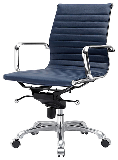 M344 Eames Style Office Chair In Navy Blue Modern Office Chairs By Meelano