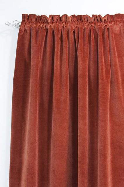 Custom Rod Pocket Curtain Panel traditional-curtains