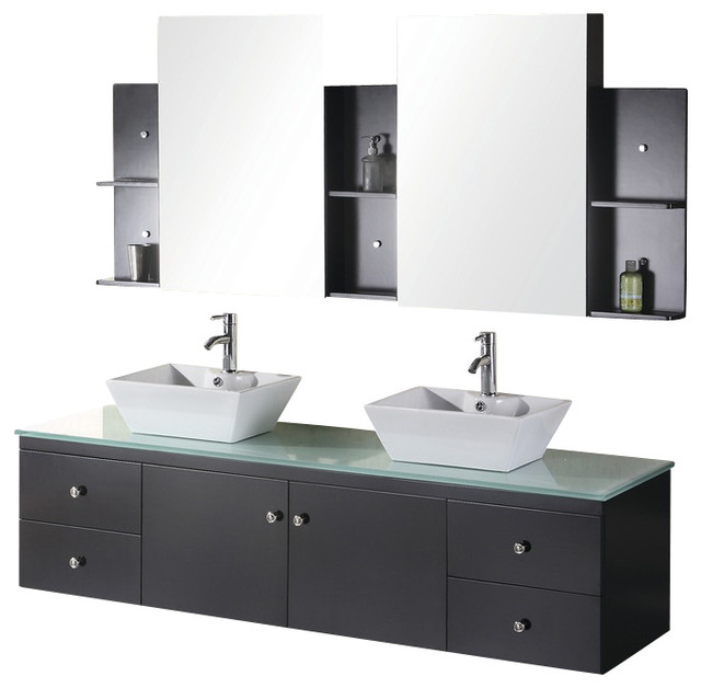 Double Wall Mount Sink : Design Element Portland 72